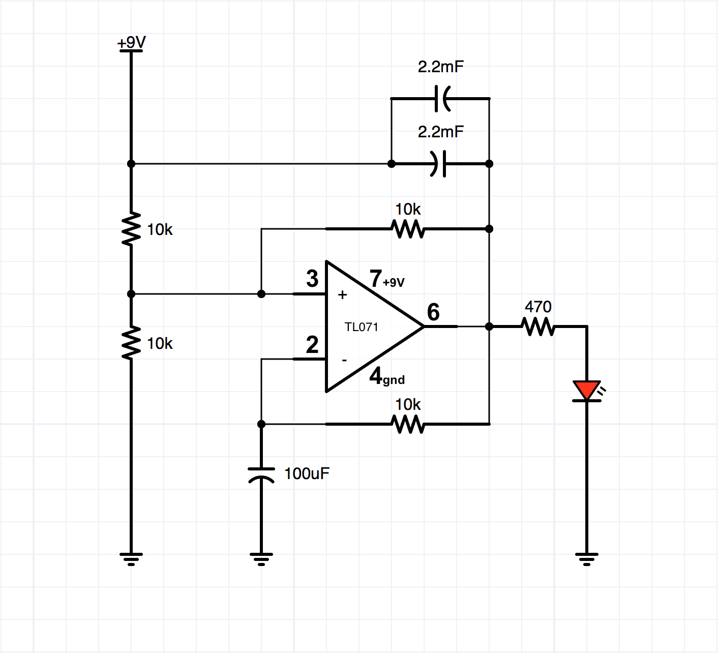 Add A Simple Circuit Breathing Led Effect To Your Pumpkin Make Low Battery Indicator Using Ic 741 Homemade Before We Get Started Lets Take Look At The Schematic