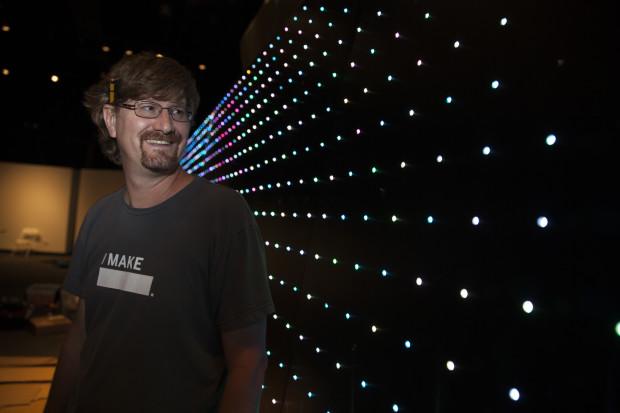 Jared Ficklin's LED display (photo; Becca Henry)