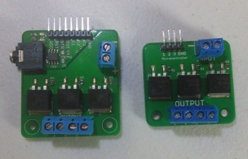 The MSGEQ7+MOSFET board