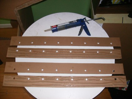 The foosball long walls with dowel holes