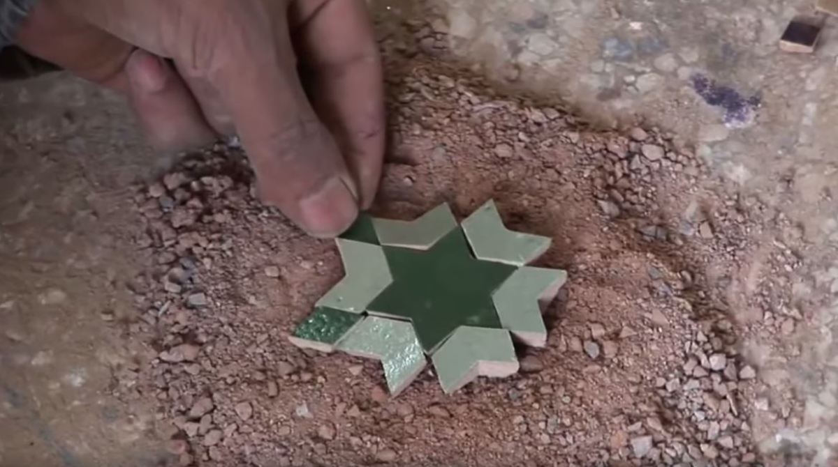 Watch Intricate Moroccan Tile Mosaic Shaped By Hand Make