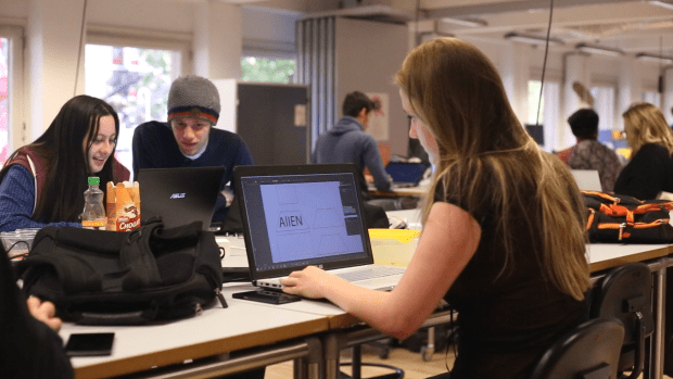 Students collaborate on a range of projects at Stadslab.