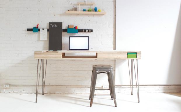 Homemade Modern Flip Desk