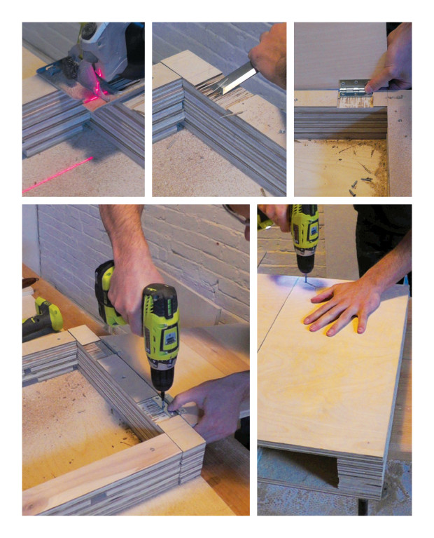 Cutting and attaching hinges