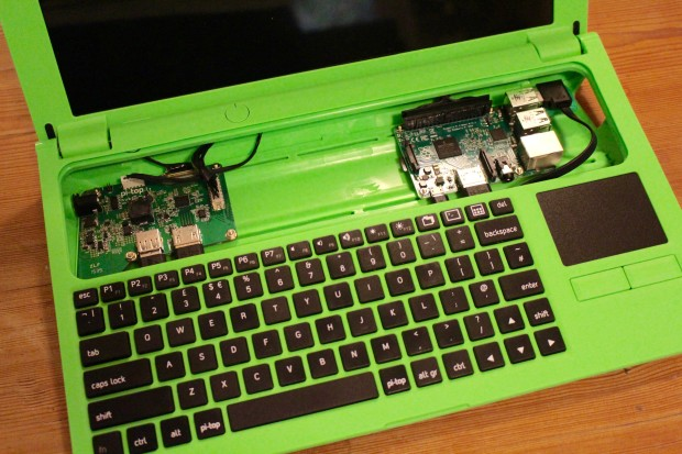 With the keyboard attached, the Pi-Top is almost complete.