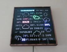 Backlit Display Word Clock Weather