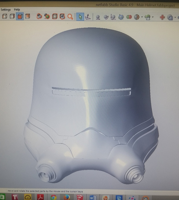 Shawn hit up his friends over at DO3D.com to help him create a 3D model of the helmet