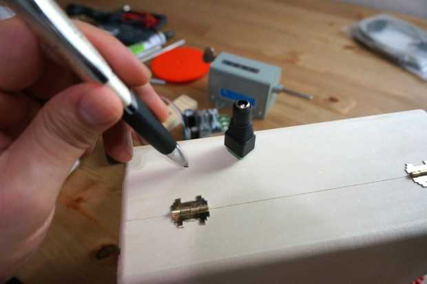 Hole for Power Jack