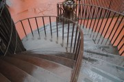 Stairs made from thick scrap steel