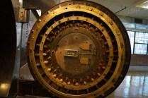Bank safe vault door