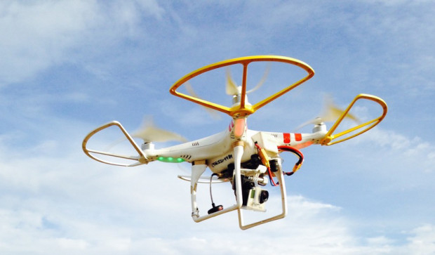 Bowers' drone. Photograph by Michelle Bowers