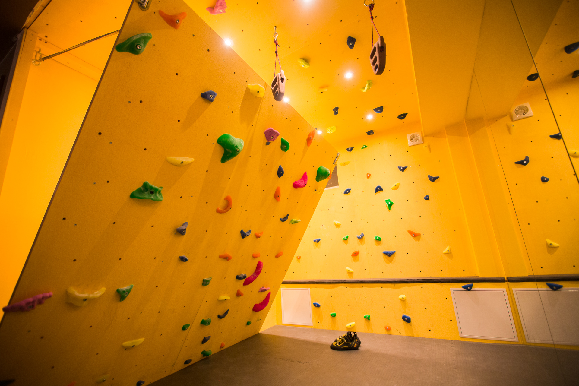 Rock Climb at Home with an Inclined Bouldering Wall