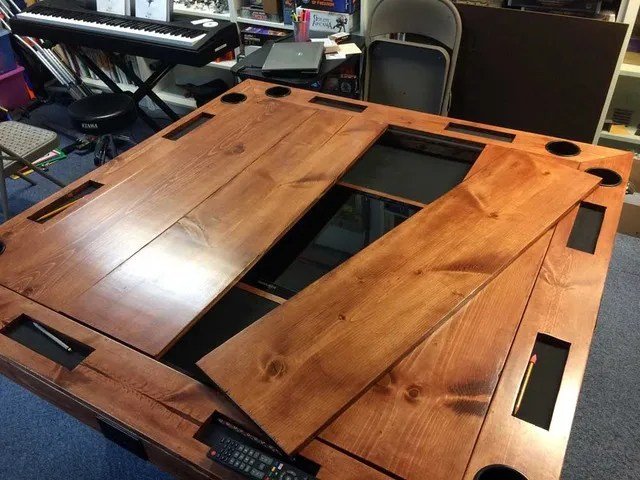 How To Build A HighEnd Gaming Table For As Little As 40 Make Inspiration Wooden Gaming Table