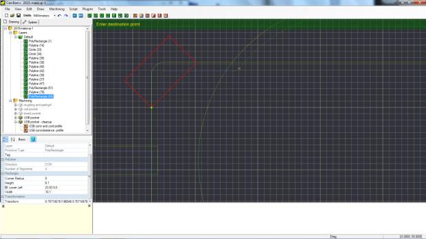 l - adding the angled rectangle 3