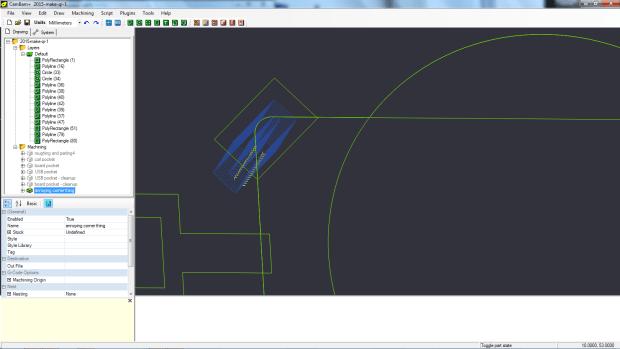 m - pocketing the angled rectangle