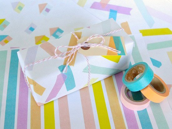 How-To: Washi Tape Wrapping Paper