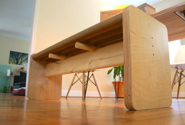 Cardboard Tube Bench