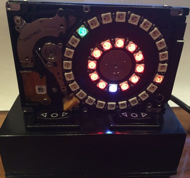 HDD-neopixel-clock