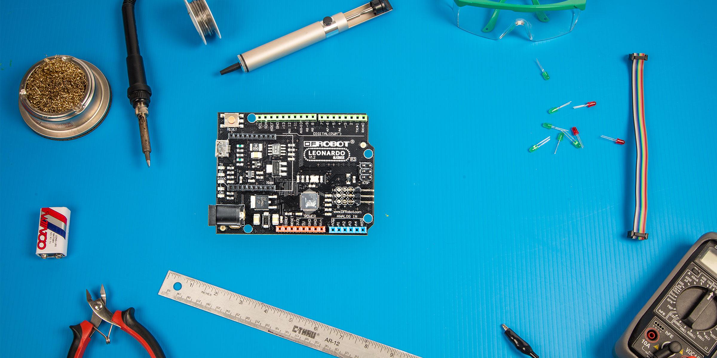 DFRobot Leonardo image courtesy of Make Magazine