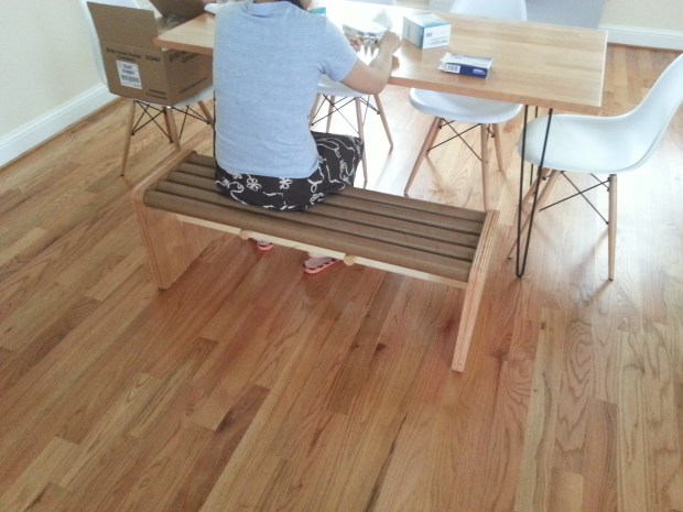 Build a Modern Bench With Cardboard Tubes