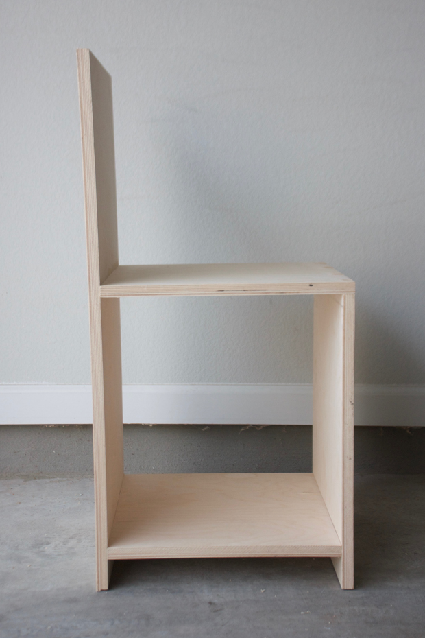 how to make a plywood chair pottery barn aaron look alike build minimalist out of