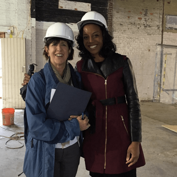 Hardhat tour with Danielle Torrain of Annie E. Casey Foundation and the Mayor's Office of Employment Development — excited to help train the next generation of Baltimore's manufacturing workforce!