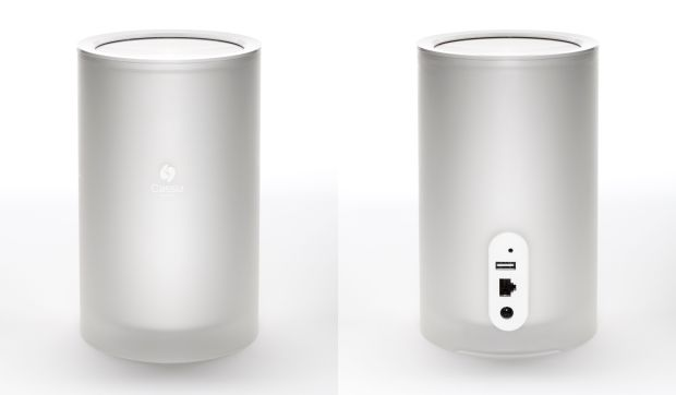 The Cassia Hub is nearly Apple-like in its appearance. It promises to extend Bluetooth range to 1000 feet and switch among 22 Bluetooth devices.