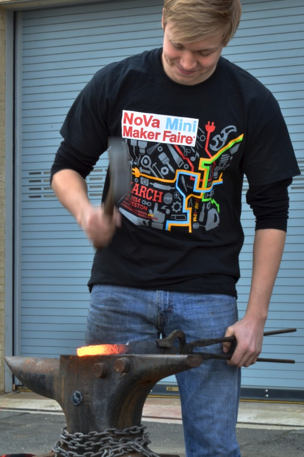 Blacksmith Everest Gromoll at 2015 NV Maker Faire by Scottt McIntosh