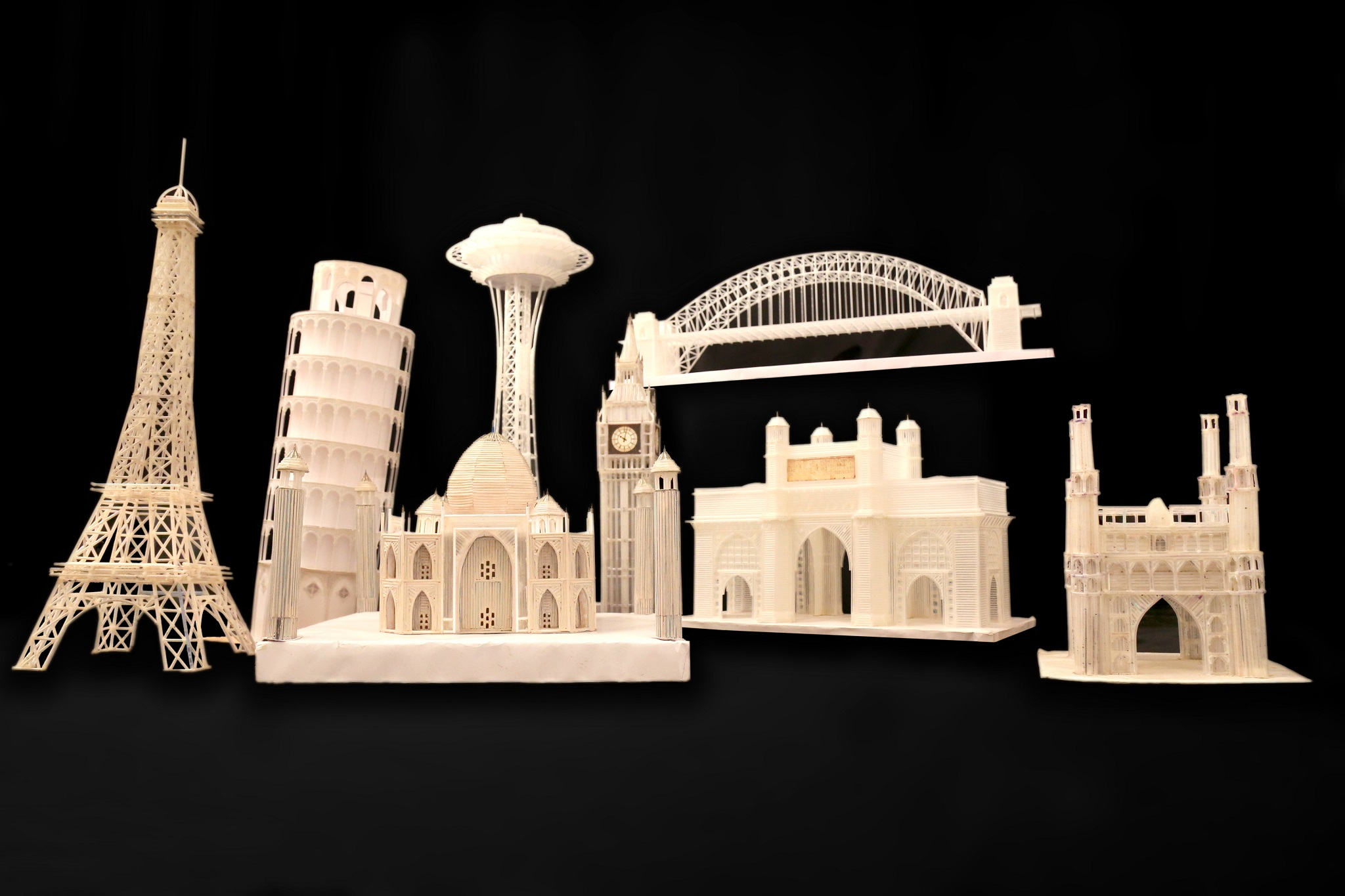 Over 4,000 Empty Pen Refills Went into These Miniature Landmarks