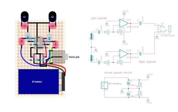 Elektrosluch DIY Schematic