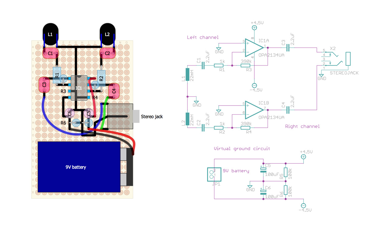 Weekend Project Listen To Weird Sounds From Electromagnetic Fields Diesel Sound 1 2 The Circuit Diagram Of On Board Steps