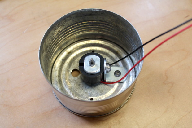 Motor mounted on can