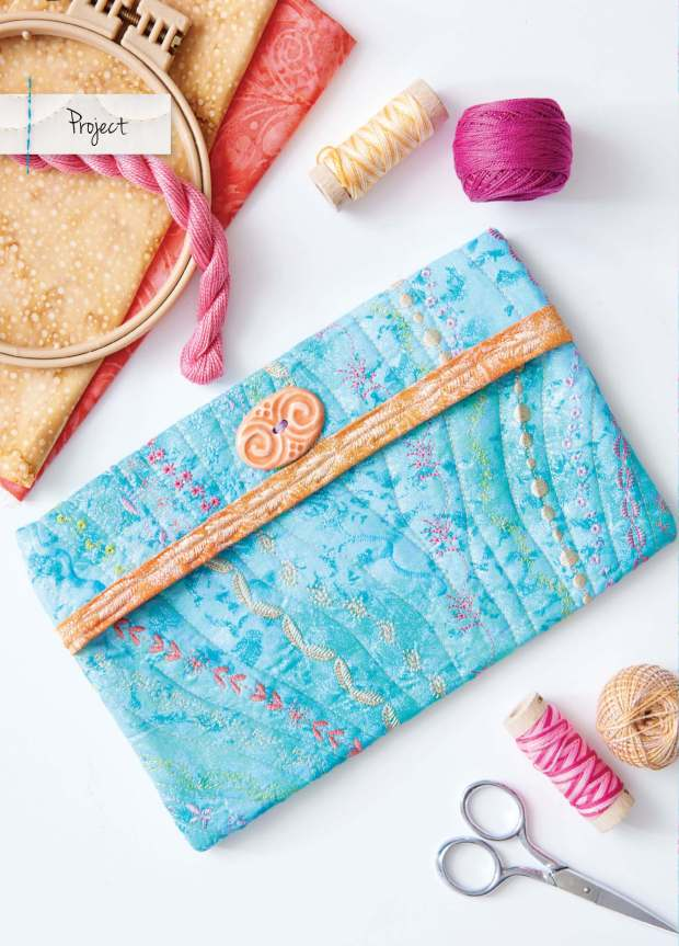 Art of Whimsical Stitching Fancy Quilted Pouch