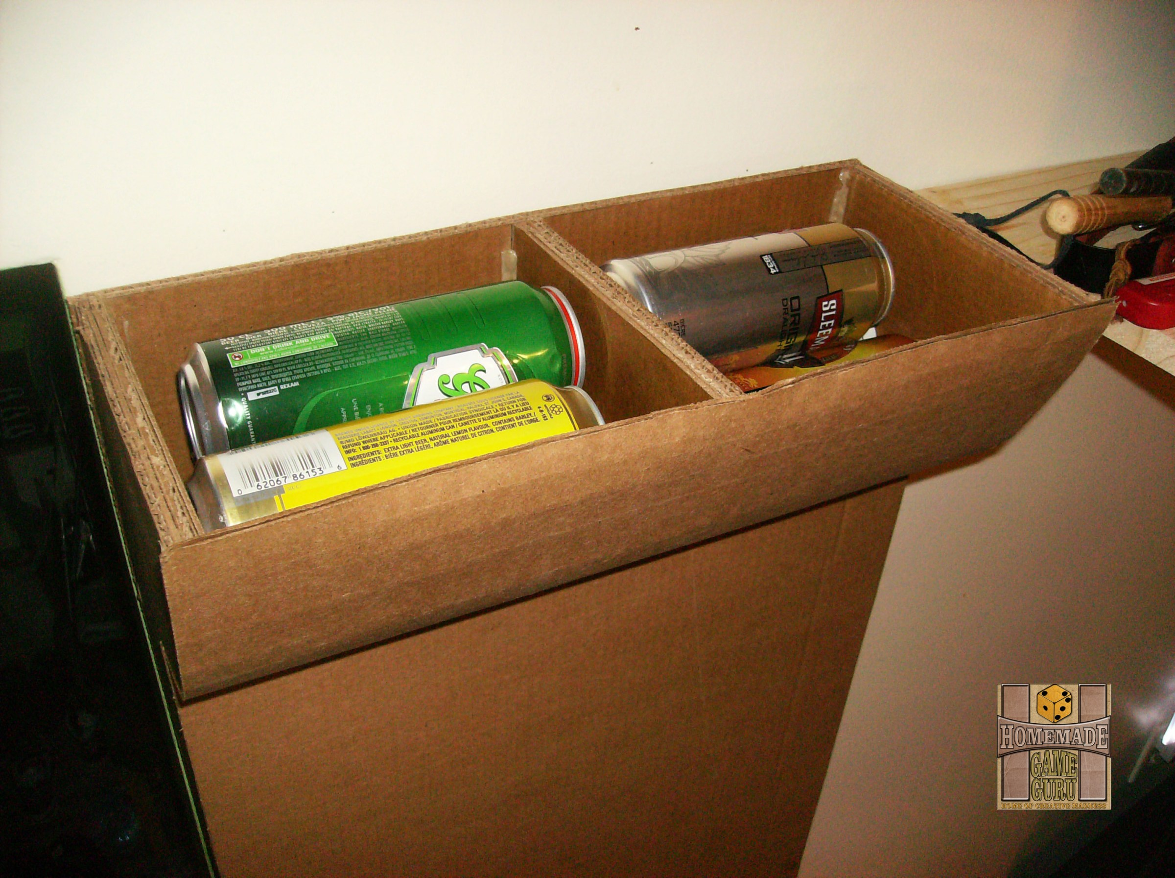 Contain Your Kitchen Clutter with a Cardboard Can Collector