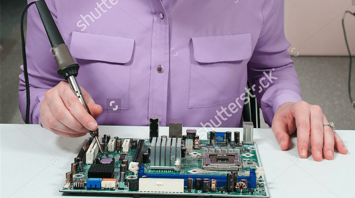 "This ""Beautiful Woman Soldering"" Stock Photo Is Awful 