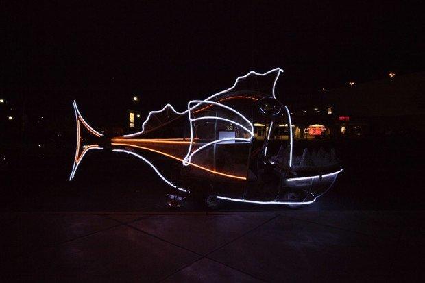 "Robert Henze: https://goo.gl/photos/2nv8knpqkFfQvDXo8 ""Sebastian glowing at night — Photo by Julian Kilker"""