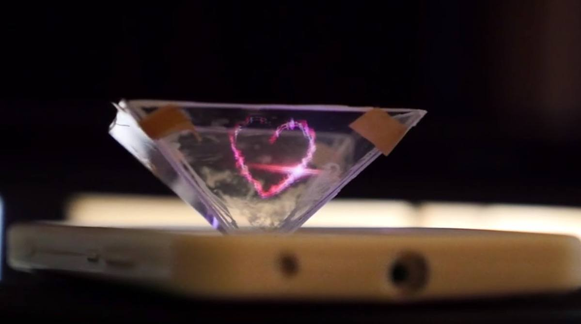Project Holograms from Your Smartphone