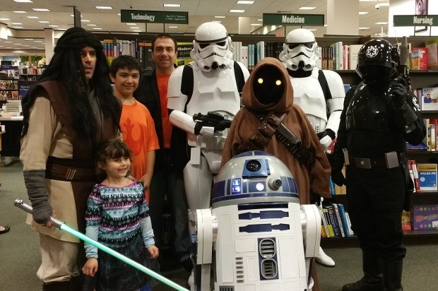 R2 at The Barnes and Noble Maker Faire with members of the 501st Legion.