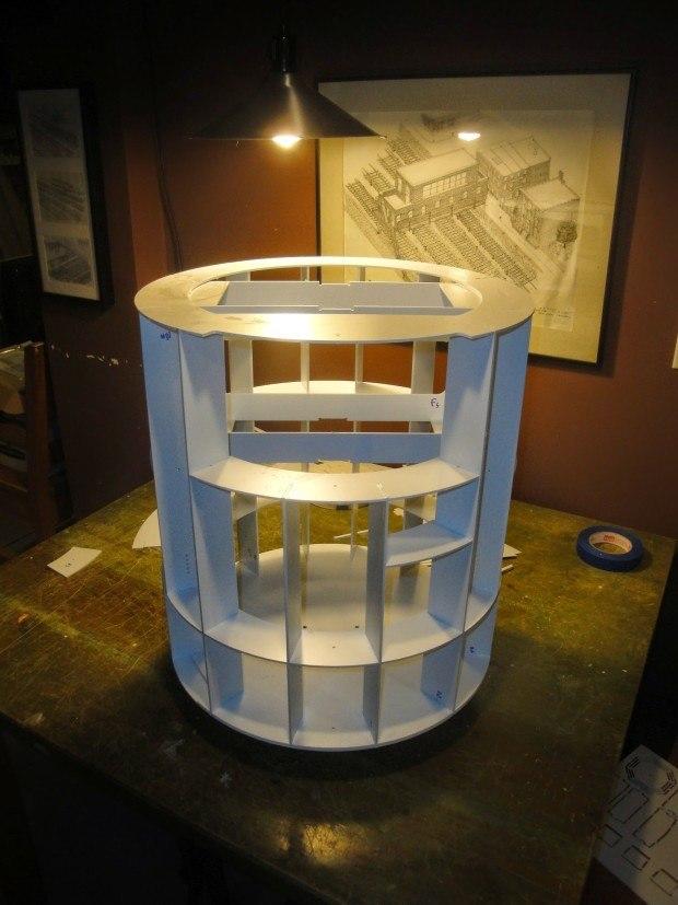 CNC styrene egg-crate Frame completed.