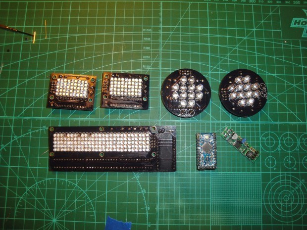 The Teeces lighting kit, soldered up.