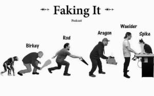 faking it podcast logo
