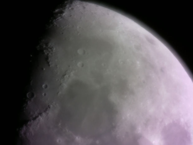 Resulting image captured with the telescope