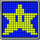 Mario star pattern