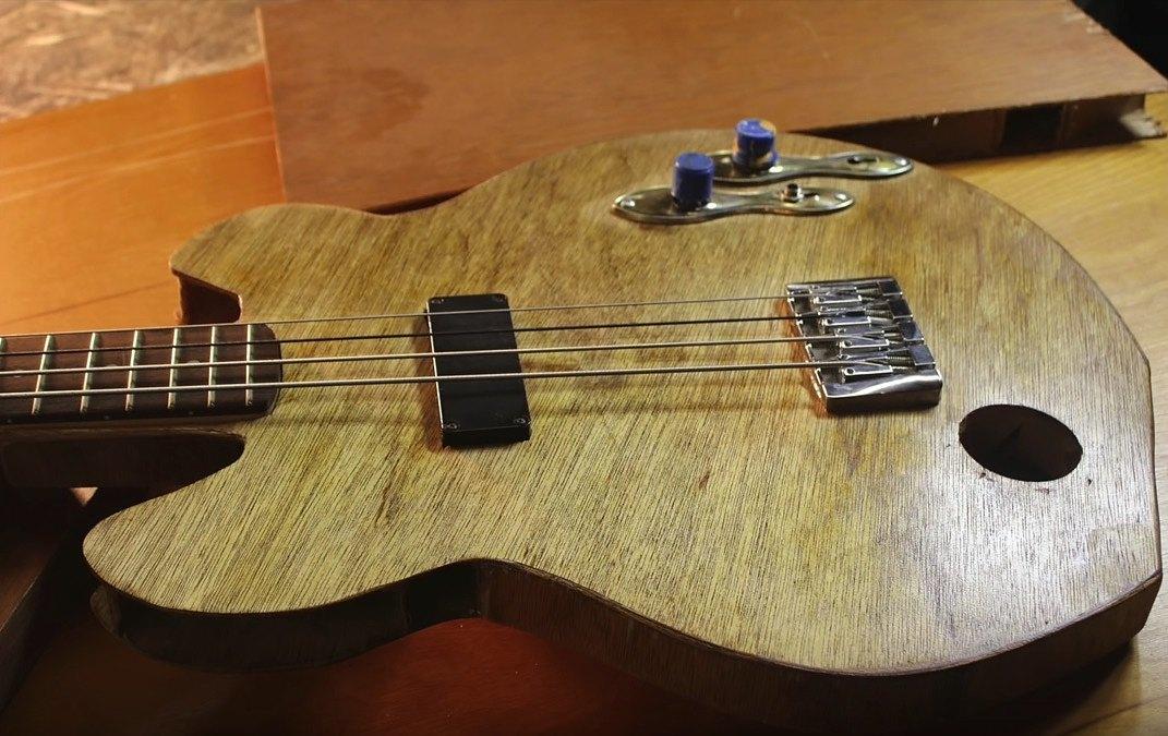 Building a Bass Guitar from a Hollow Core Door