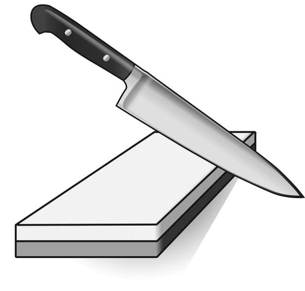 how to keep angle while sharpening knife