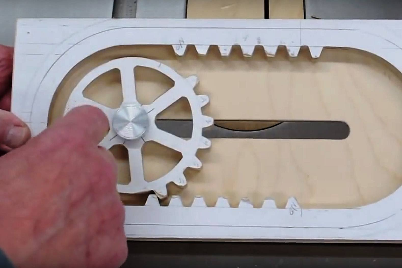 How It's Made: A Wooden Reciprocating Rack and Pinion