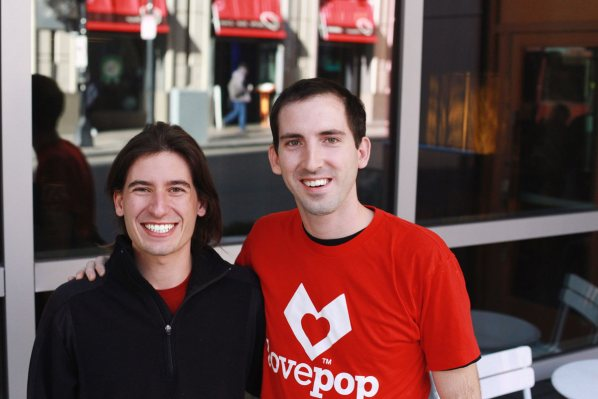 Lovepop founders Wombi Rose (left) and John Wise (right). Photo courtesy of Lovepop.