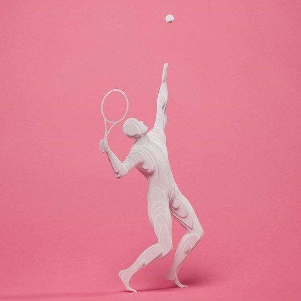 Tennis player by Raya Sader Bujana. Photo by Leo Garcia Mendez.