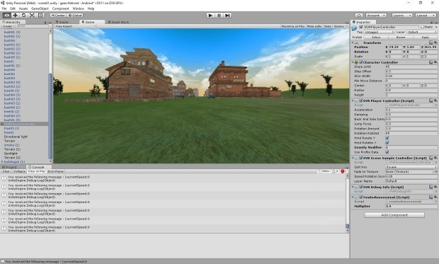 early prototype in Unity 3d