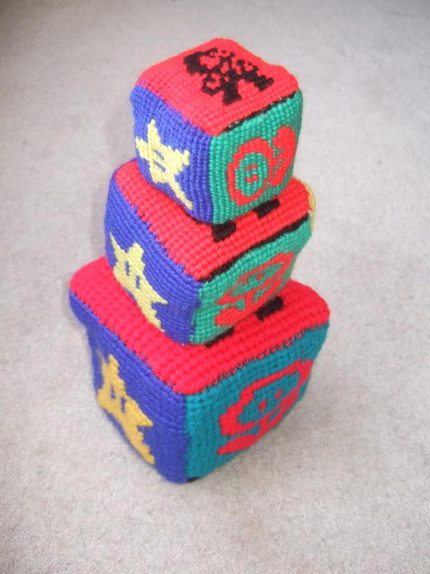 Macramé a Mario Bros Play Block